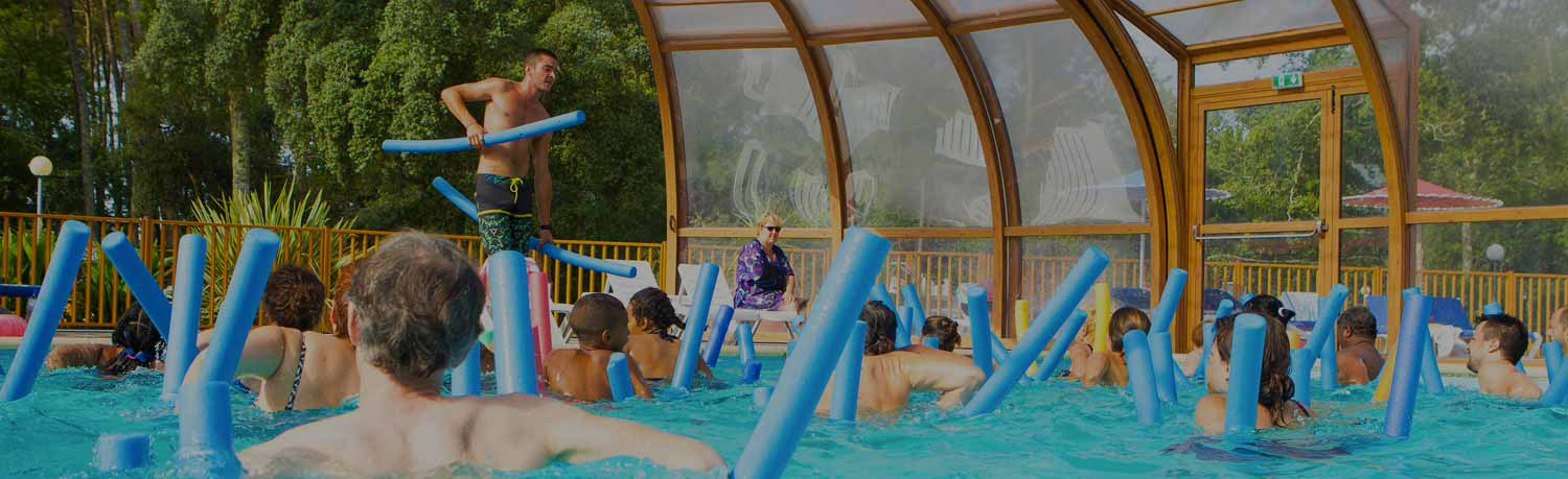 campsite landes seaside with swimming pool
