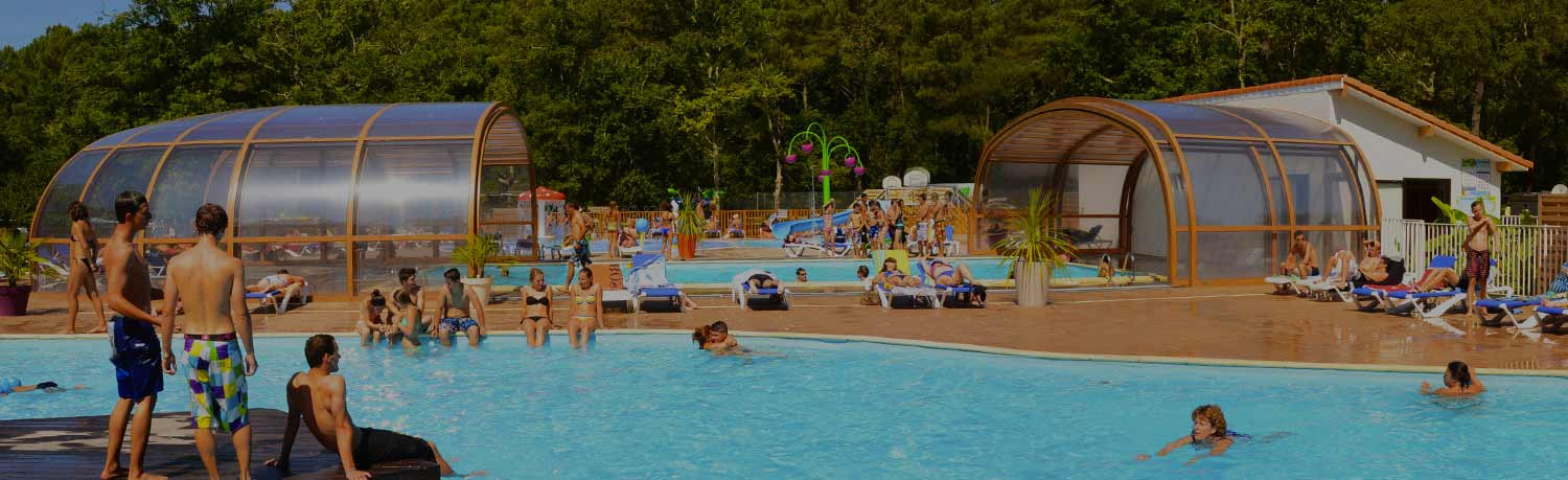 campsite hossegor with swimmingpool