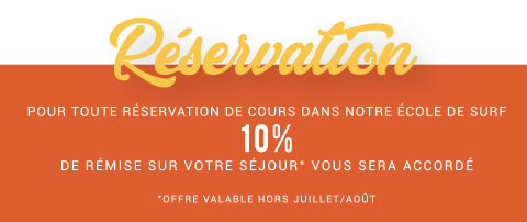 reservation école de surf reduction 10%