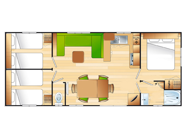 location mobil home 3 chambres Hossegor