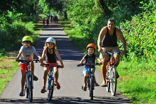 Cycling tours with children