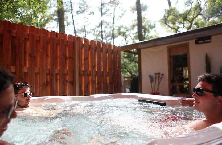 lodge avec spa pour 5 personnes dans les Landes