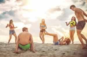 The beach pleasures