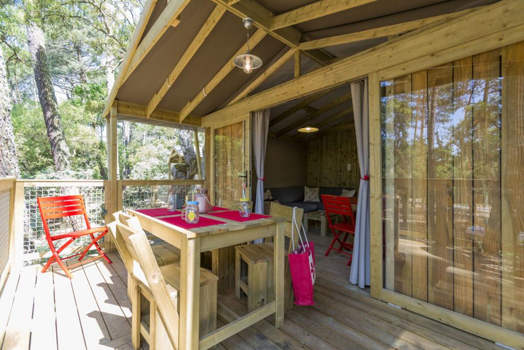 Location lodge avec spa pour 5 personnes dans les Landes