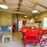 Salon lodge avec spa pour 5 personnes dans les Landes